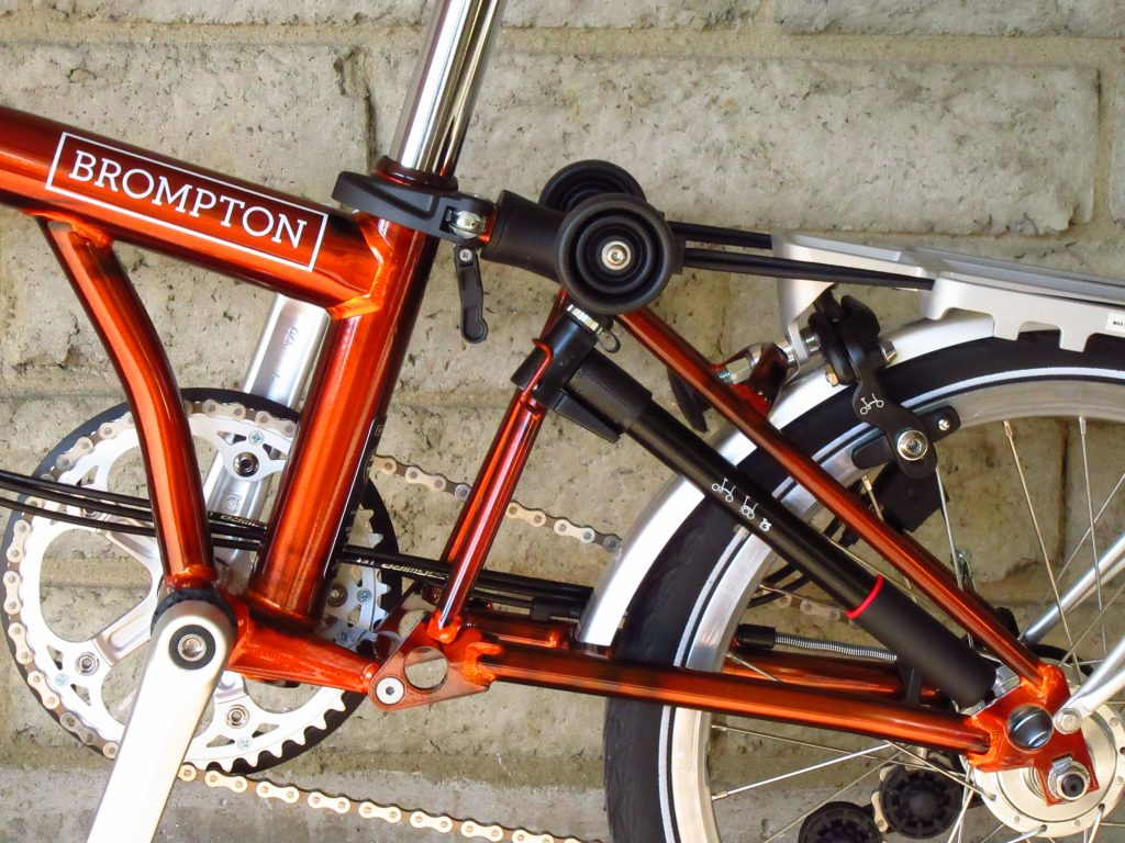 Brompton M6r 12 Gearing All Flame Lacquer 171 Portapedal Bike